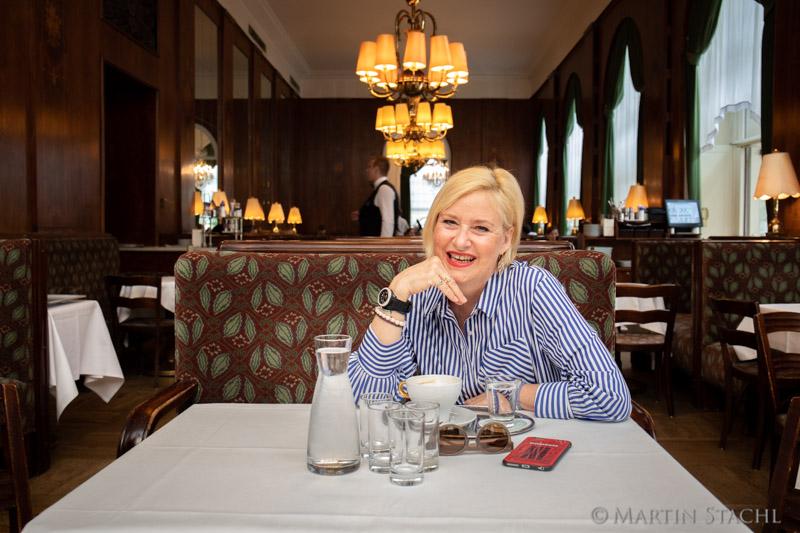 Elisabeth Engstler im Landtmann für Treffpunkt Wien